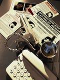 Het bureau van de gulle giftjager vector illustratie