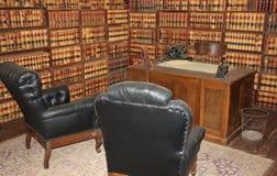 Het bureau van de historische advocaat van 1800's Stock Afbeelding