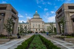 Het Bureau van de het Huisreis van de staat in Indianapolis Indiana During Summer royalty-vrije stock foto