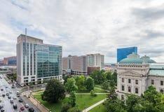 Het Bureau van de het Huisreis van de staat in Indianapolis Indiana During Summer stock fotografie