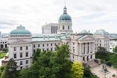 Het Bureau van de het Huisreis van de staat in Indianapolis Indiana During Summer royalty-vrije stock fotografie
