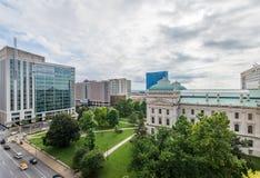 Het Bureau van de het Huisreis van de staat in Indianapolis Indiana During Summer stock foto