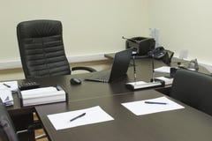 Het bureau van de manager Stock Afbeeldingen