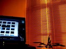 Het bureau van de nacht Stock Foto