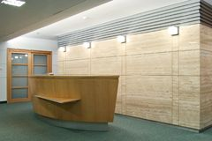 Het bureau van de ontvangst Stock Fotografie