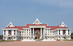 Het bureau van de overheid in Vientiane, Laos stock foto