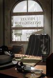 Het bureau van de privé-detective vector illustratie