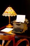 Het Bureau van de schrijver stock afbeelding