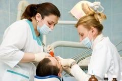 Het bureau van de tandarts stock afbeeldingen