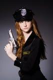 Het bureau van de vrouwenpolitie stock foto's