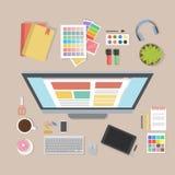 Het bureau van de Webontwerper Royalty-vrije Stock Foto