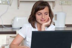 Het bureau van het huis - bedrijfspersoon met laptop royalty-vrije stock fotografie
