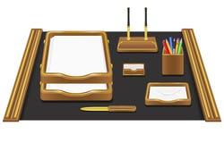 Het bureau vectorillustratie van de kantoorbehoeften Royalty-vrije Stock Afbeeldingen