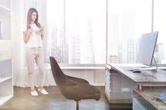 Het bureau zijaanzicht van de bedrijfmanager, vrouw Royalty-vrije Stock Afbeelding
