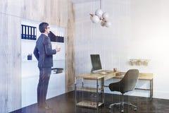 Het bureaubinnenland van de bedrijfleider, zakenman Stock Afbeelding