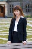 Het bureaudame van de campus Stock Fotografie