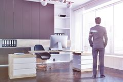 Het bureauhoek van de bedrijfmanager, zakenman Stock Foto's