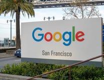 Het bureauplaats van Google San Francisco van Embarcadero-waterkant Royalty-vrije Stock Foto