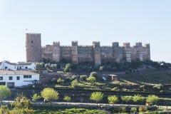 Het Burgalimarkasteel, begraaft al-Hamma, het dorp van La encina van Baños DE, J stock foto