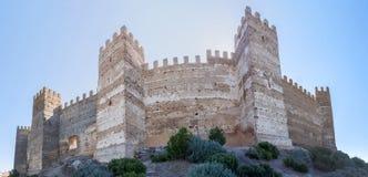 Het Burgalimarkasteel, begraaft al-Hamma, het dorp van La encina van Baños DE, J stock foto's