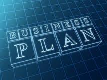 Het businessplan van in blauwe vakjes Royalty-vrije Stock Foto
