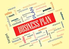 Het Businessplan van Collage van woorden Vector Illustratie