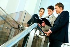 Het businessplan van de lezing Royalty-vrije Stock Afbeeldingen