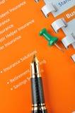 Het businessplan van de verzekering Stock Foto