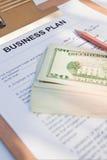 Het businessplan van met ons dollars Stock Foto
