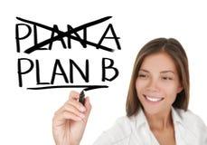Het businessplan van - vrouwentekening Royalty-vrije Stock Foto's