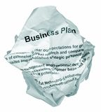 Het businessplanweigering van  Royalty-vrije Stock Fotografie