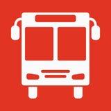 Het buspictogram Het symbool van het openbaar vervoereinde vlak vector illustratie