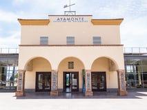 Het busstation in Ayamonte, Spanje Royalty-vrije Stock Foto's