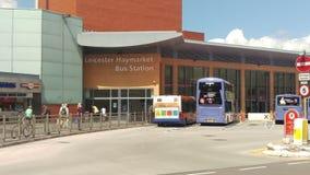 Het busstation van Leicester Stock Afbeeldingen