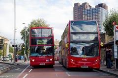 Het busstation van Londen Stock Foto