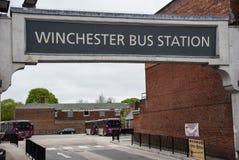 Het Busstation van Winchester stock afbeeldingen