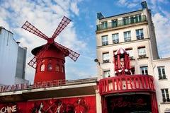 Het cabaret van de Rouge van Moulin. Parijs, Frankrijk. Royalty-vrije Stock Fotografie