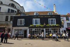 Het Café van het pomphuis in Brighton stock afbeelding