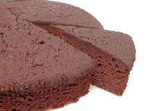 Het cake-stuk van de chocolade Stock Foto