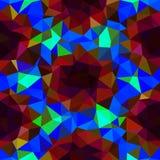 Het caleidoscopische lage poly vectormozaïek van de driehoeksstijl Stock Foto