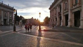 Het Campidoglio-vierkant stock videobeelden