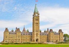 Het Canadese parlement stock afbeelding