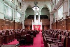 Het Canadese Parlement: de Senaat royalty-vrije stock foto's