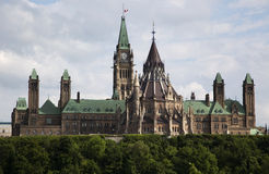 Het Canadese Parlement in Ottawa Royalty-vrije Stock Foto's