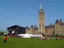 Het Canadese parlement in Ottawa Stock Foto