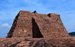 Het canonstadium van fort Stock Foto