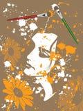 Het Canvas van de kunstenaar vector illustratie