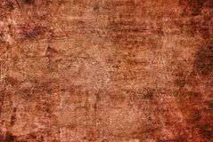 Het Canvas van Grunge Donker Geel Bruin Rood Oranje Rusty Distorted Decay Old Abstract het Schilderen Textuurpatroon Autumn Backg stock afbeelding