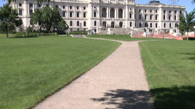 Het capitolgebouw van de staat in Saint Paul, Minnesota stock video