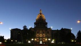 Het Capitool die van de Staat van Colorado Timelapse bouwen stock videobeelden